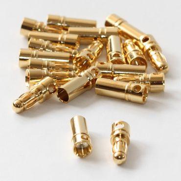 10x Paar Goldkontakt 3,5mm (Stecker + Buchse) – Bild 2