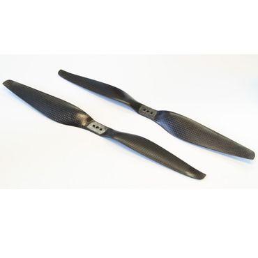 1 Paar CFK HE 12x5.5 Carbon Propeller Luftschraube (1x CW / 1x CCW)