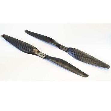1 Paar CFK HE 13x5.5 Carbon Propeller Luftschraube (1x CW / 1x CCW)
