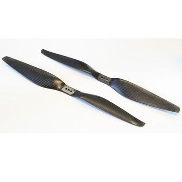 1 Paar CFK HE 14x5.5 Carbon Propeller Luftschraube (1x CW / 1x CCW)
