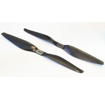 1 Paar CFK HE 24x5.5 Carbon Propeller Luftschraube (1x CW / 1x CCW)