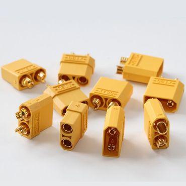 5 Paar XT90 Verpolschutzstecker (5xStecker + 5xBuchsen)