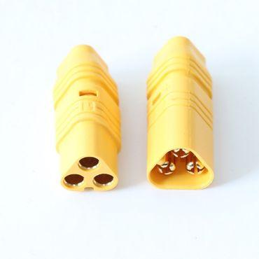 1 Paar MT60-3 Verpolschutzstecker BL Motor (1xStecker + 1xBuchse) – Bild 1