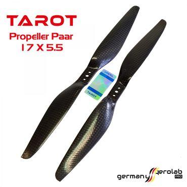 1 Paar TAROT 17x5.5 Carbon Propeller – Bild 1