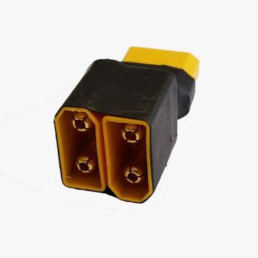 Adapter : XT60 Buchse -> 2x XT60 Stecker Serien Schaltung