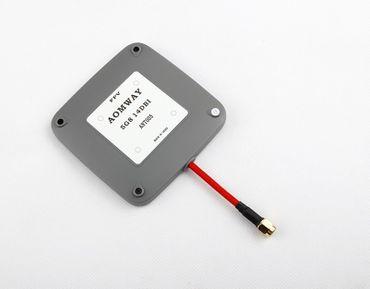 AOMWAY 5.8Ghz 14 dbi RP-SMA Plug Patch Antenne (grau) – Bild 1