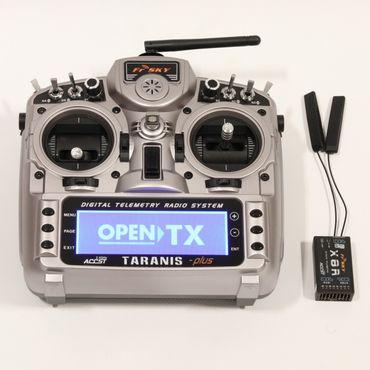 FrSky Taranis X9D Plus Mode 2 + X8R Empfänger + ALU Koffer 2,4 GHz ACCST – Bild 2