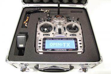 FrSky Taranis X9D Plus Mode 2 + ALU Koffer - 2,4 GHz ACCST – Bild 3