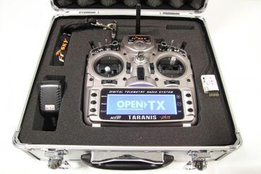FrSky Taranis X9D Plus + X4R Empfänger + ALU Koffer 2,4 GHz ACCST – Bild 2