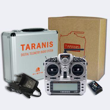 FrSky Taranis X9D Plus Mode 1 + X8R Empfänger + ALU Koffer 2,4 GHz ACCST – Bild 1