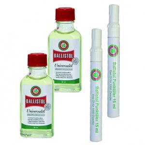 BALLISTOL Öl 2 x 50 ml Glasflasche und BALLISTOL Punktöler 2 x mit 15ml
