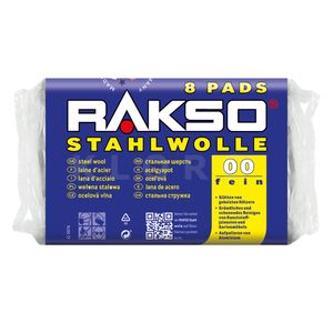RAKSO® Stahlwolle Pads Sorte 00    8 Pads = 200 g   010780