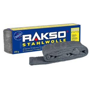 RAKSO® Stahlwolle Sorte 0000    Paket mit 200 g  010806