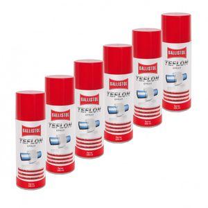 BALLISTOL Teflon® Spray 6 Dosen 200 ml Trockenschmierung  PTFE Teflonspray 25600