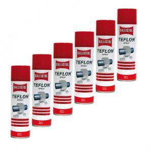 BALLISTOL Teflon® Spray, 6 Dosen a 400 ml Trockenschmierung  PTFE Teflonspray 25607