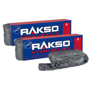 RAKSO® Stahlwolle Sorte 5   2 Pakete mit je 200 g   010506