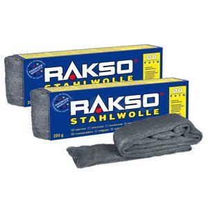 RAKSO® Stahlwolle Sorte 00   2 Pakete mit je 200 g   010706