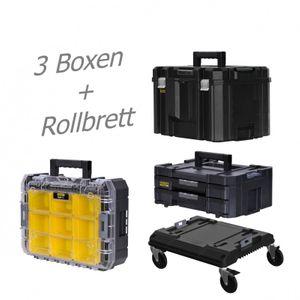 STANLEY FATMAX TSTAK Box IV + Box V + Box VI  plus Rollbrett – Bild 1