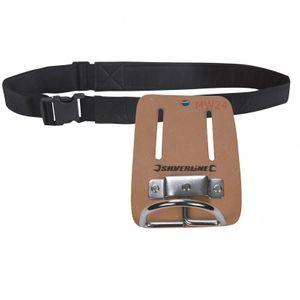 SILVERLINE Set Hammerhalter aus Leder + Werkzeuggürtel
