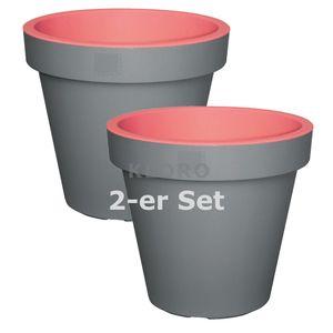 GELI Pflanztopf Blumentopf 2 farbig Kunststoff  ca. 25 cm verschiede Farben   – Bild 8