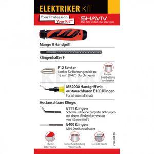 VARGUS SHAVIV Elektriker - KIT 154-00060 Profi Serie Handentgrater Entgrater Set – Bild 3