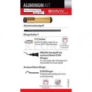 VARGUS SHAVIV Aluminium - KIT 154-00061  Profi Serie Handentgrater Entgrater Set – Bild 3