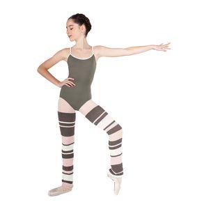 INTERMEZZO Ballett Legwarmer POLTRINUI Stulpen gestreift 80 cm, Ballett Stulpen, Tanz Stulpen