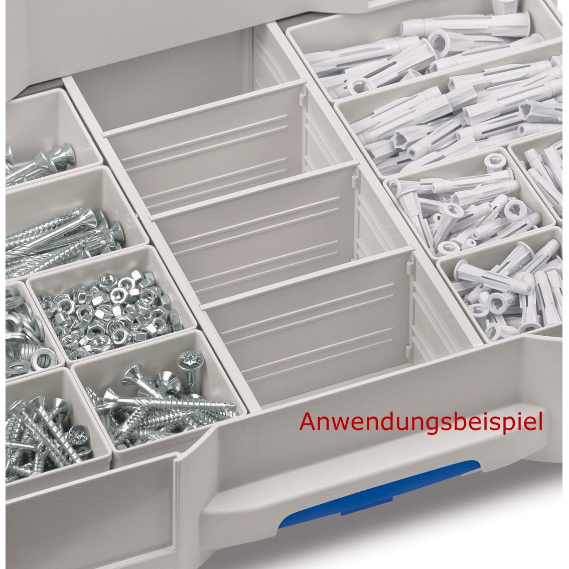 TANOS systainer® T-Loc SYS-Combi IV//3 anthrazit  80101821   mit 3 Schubladen