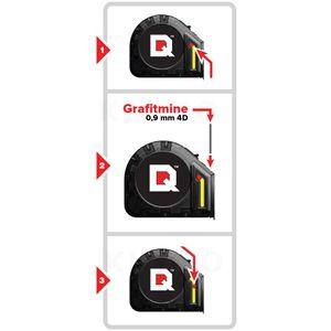 QUICKDRAW Nachfüllpackung 4 x 10 Stück Grafit Marker Originalminen für Bandmaß QD8M-PRO – Bild 3