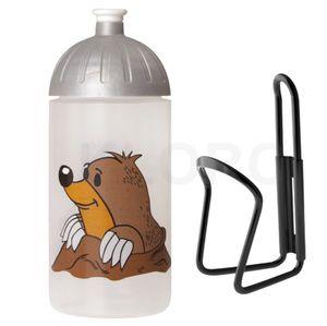 ISYbe Trinkflasche 0,5 L - Maulwurf mit Flaschenhalter, auslaufsicher
