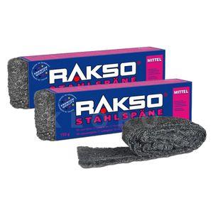 RAKSO® Stahlspäne Sorte mittel   2 Pakete mit 150 g   030203