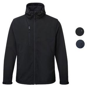 Herren Softshell Jacke schwarz Reißverschluss Kapuze Blue Castle Holkham Jacket 234 – Bild 1