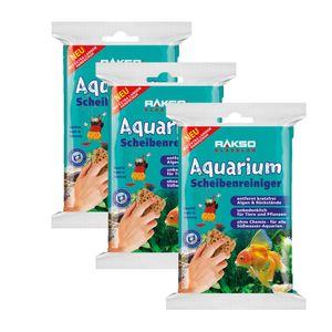 RAKSO® Glasklar Aquarium-Scheibenreiniger rostfrei  Glasputzer Glasreiniger 3 Pakete