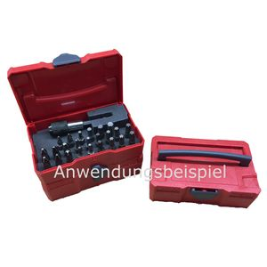 TANOS Micro systainer® rot mit 24-teiligem Bit-Set und Bithalter 8 x Kreuz + 16 x Torx – Bild 2