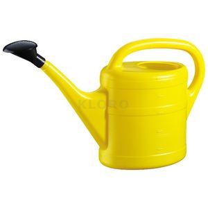 GELI Gießkanne aus Kunststoff mit Brause 5 Liter gelb
