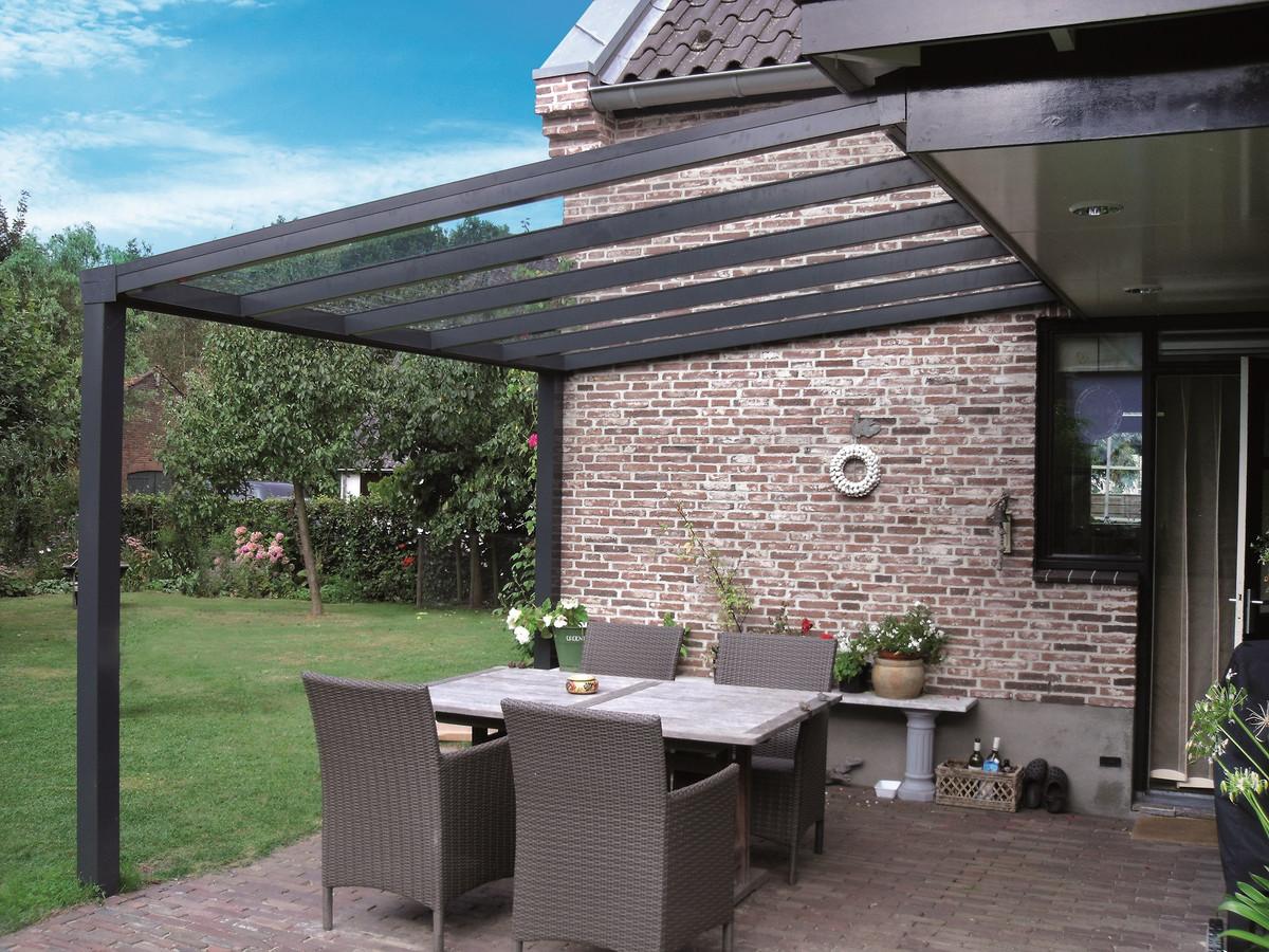 700 x 350 cm Aluminium Terrassenüberdachung \
