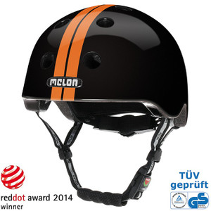 Melon Helm straight orange black - urban activ Fahrradhelm, Skaterhelm, BMX Helm