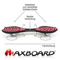 Maxboard dotty white - Waveboard mit rutschsicherer Grip-Oberfläche 03