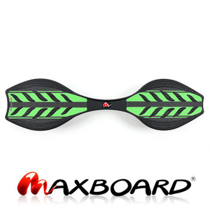 Maxboard double green black - Waveboard mit rutschsicherer Grip-Oberfläche