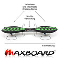 Maxboard double green black - Waveboard mit rutschsicherer Grip-Oberfläche 03