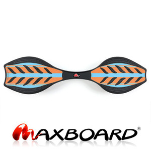 Maxboard Double Orange Blue Waveboard in der Ansicht von oben