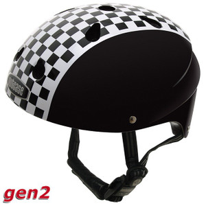 Nutcase Kinderhelm Checkerboard (magnet) - Street Little Nutty Kinder Helm