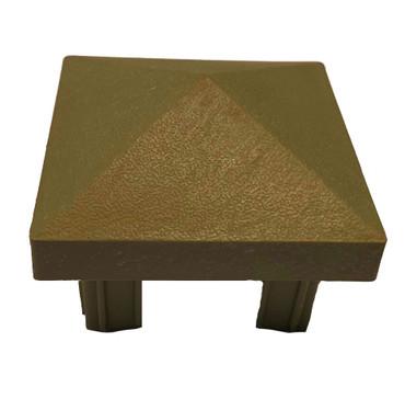 Var versch. Pfosten - Kappen  Modell: Pyramide Kunststoff Braun