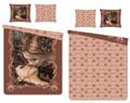 Victoria Francés Bettwäsche Kiss brown 135 x 200 cm, 80 x 80 cm 001
