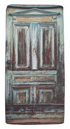 Spannbettlaken Motiv Holztür – Bild 1