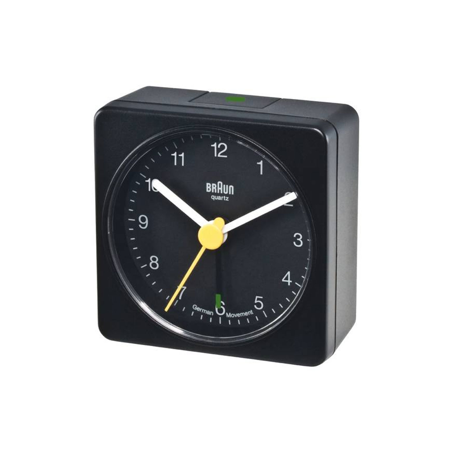 Braun Uhren BC02BW Quarzwecker schwarz