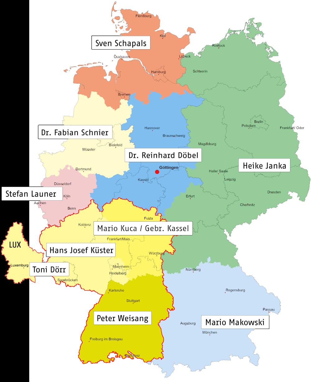Fachberaterkarte Deutschland
