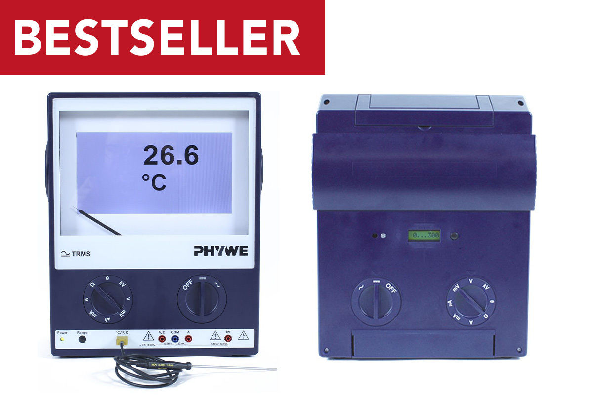 PHYWE Demo Multimeter ADM 3: current, voltage, resistance, temperature