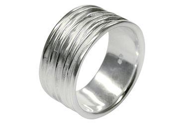 SILBERMOOS Ring Damenring Herrenring Partnerring Bandring glänzend matt breit Sterling Silber 925