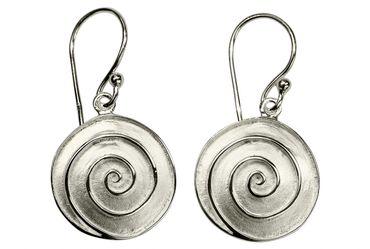 Attraktive Ohrhänger mit Spiral-Muster – Bild 1